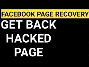 Recover Hacked Page